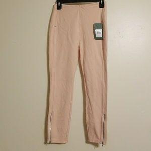Lysse Leggings Pink Zipper Bottoms Stretch